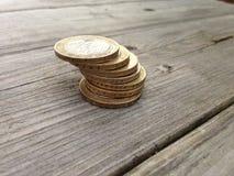 Estoque das moedas Foto de Stock Royalty Free