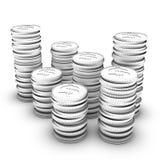 Estoque de moedas do dólar ilustração do vetor