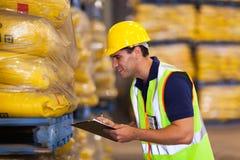 Estoque do arroz do trabalhador Imagens de Stock