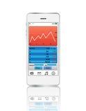 Estoque esperto do gráfico da cor do telefone Fotografia de Stock