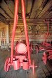 Estoque retro do sapador-bombeiro recolhido na vila Imagens de Stock Royalty Free