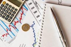 Estoques e dinheiro de troca Imagem de Stock