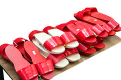 Estorba rojo-blanco Imágenes de archivo libres de regalías