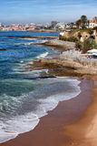 Estoril and Cascais Coastline in Portugal Stock Photography