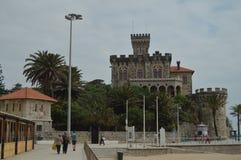 : Estoril, Cascais, Sintra, Lissabon, Portugal Nettes Fort der Querdatierung im Jahrhundert XVII errichtet von Felipe III lizenzfreie stockfotografie