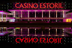 Estoril Casino at night Stock Images