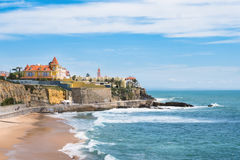 Estoril coastline near Lisbon - Portugal Royalty Free Stock Images
