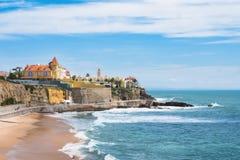 Estoril coastline near Lisbon - Portugal Royalty Free Stock Images