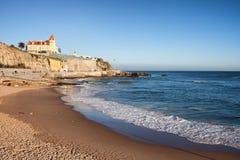 Estoril strand i Portugal Arkivbild