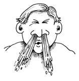 Estornudo Foto de archivo