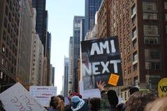 Estou eu em seguida, março por nossas vidas, violência armada, protesto, NYC, NY, EUA Imagem de Stock