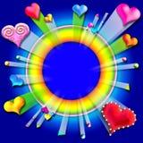 Estourando frame5 do Valentim do amor Imagens de Stock Royalty Free