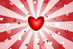 Estourando o coração Foto de Stock