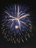Estourando os fogos-de-artifício circulares 2014 Foto de Stock Royalty Free