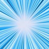 Estouro azul da luz ilustração do vetor