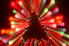 Estouro da luz de Natal foto de stock
