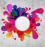 Estouro de cor abstrato Fotografia de Stock