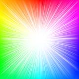 Estouro do arco-íris fotos de stock