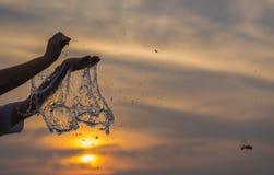 Estouro do balão de água Fotografia de Stock