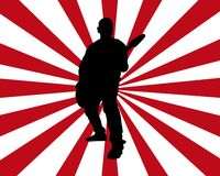 Estouro do guitarrista Imagens de Stock Royalty Free