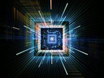 Estouro do processador central Imagem de Stock