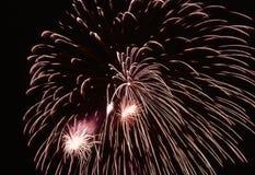 Estouro dos fogos-de-artifício Fotografia de Stock