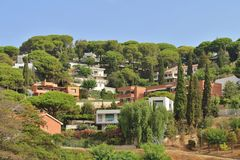 ` Estrac, Spagna di Caldes d Immagine Stock Libera da Diritti