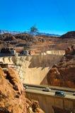 Estrada à barragem Hoover Imagem de Stock