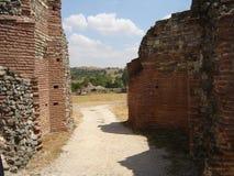 Estrada à casa de campo romana fotografia de stock