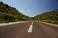 Estrada à costa Imagem de Stock Royalty Free