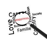 Estrada à felicidade imagem de stock royalty free