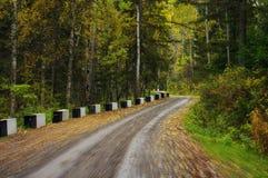 Estrada à madeira imagem de stock