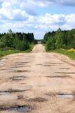 Estrada à madeira com Imagens de Stock