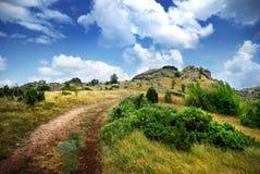 Estrada à montanha Fotografia de Stock Royalty Free