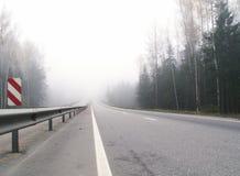 Estrada à névoa Fotografia de Stock