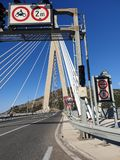 estrada à ponte imagem de stock