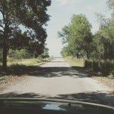 estrada à praia bonita Fotografia de Stock