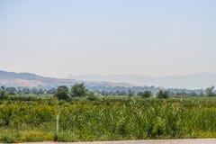 Estrada à proximidade da cidade de Denizli Imagem de Stock Royalty Free