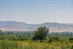 Estrada à proximidade da cidade de Denizli Imagens de Stock