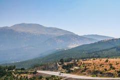 Estrada à proximidade da cidade de Denizli Imagem de Stock