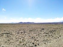 Estrada à reserva natural do flamingo, o Chile fotos de stock royalty free