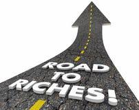 A estrada à rua fácil do dinheiro da renda da riqueza das riquezas exprime 3d Illustra ilustração stock