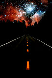 Estrada às estrelas fotografia de stock royalty free