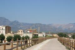 Estrada às montanhas Foto de Stock