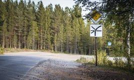 Estrada áspera adiante Imagem de Stock