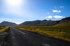 Estrada #1 em Islândia Foto de Stock