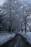Estrada 2 da neve fotografia de stock