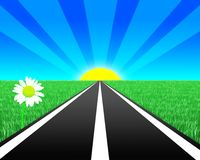 Estrada ilustração stock