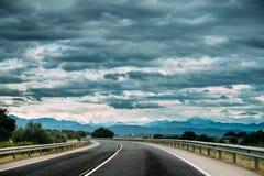 Estrada aberta bonita Asphalt Freeway, estrada, estrada contra T imagem de stock
