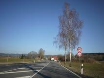 Estrada aberta da rua do alemão foto de stock royalty free